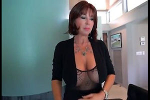 This huge-boobed mature gal want to..