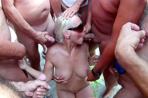 Blonde mature orla gangbanged on Cap..