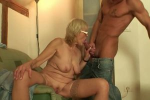 Stud porks aged mother-in-law on the..