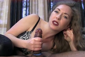 Perverse MILF doing great handjob and..