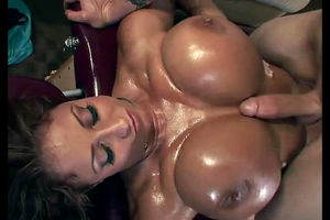 Huge titted mature business female..