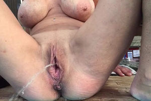 Milf with massive blue wiry boobs..