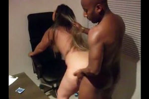 Ebony manager plow mature secretary...