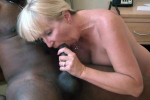 Blondie mom is a lover of oral and..